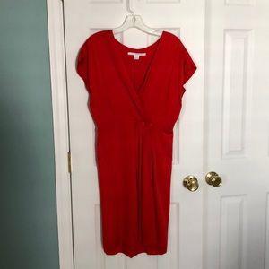 Diane von Furstenberg Red Silk Dress Size 4